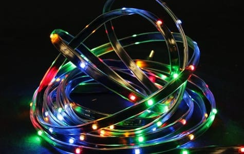 Multi-Colored Christmas Rope Lights