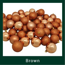 Brown Shatterproof Christmas Ornaments