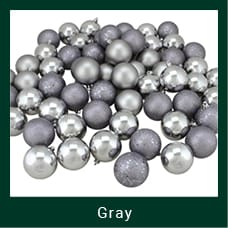 Gray Shatterproof Christmas Ornaments