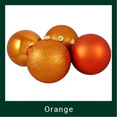 Orange Shatterproof Christmas Ornaments