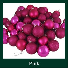 Pink Shatterproof Christmas Ornaments
