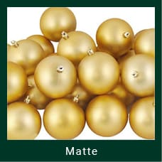 Gold Matte Christmas Ornaments