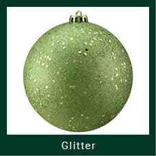 Green Glitter Christmas Ornaments