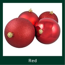 Red Shatterproof Christmas Ornaments