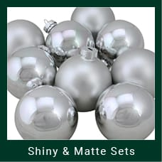 Silver Shiny & Matte Christmas Ornaments