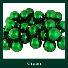 Green Shatterproof Christmas Ornaments