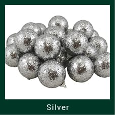 Silver Shatterproof Christmas Ornaments
