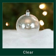 Clear Shatterproof Christmas Ornaments