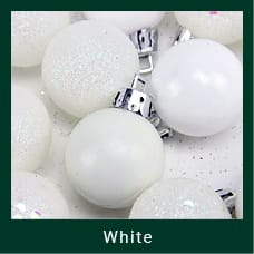 White Shatterproof Christmas Ornaments