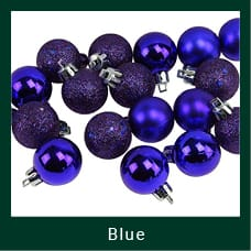 Blue Shatterproof Christmas Ornaments