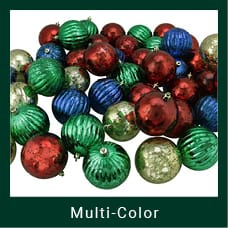Multi-colored Shatterproof Christmas Ornaments