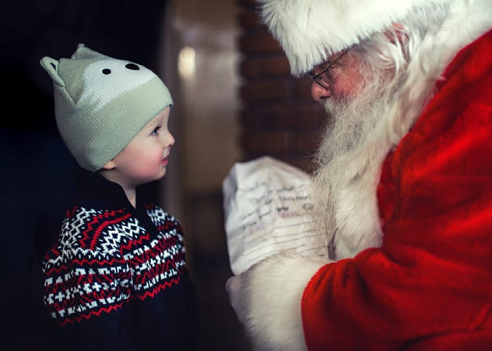 Santa Claus & Little Child