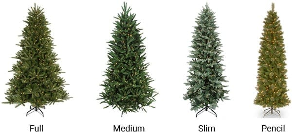 Artificial Christmas Tree Sizes