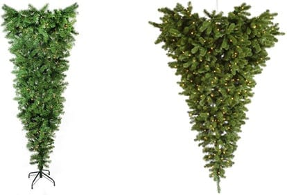 Upside Down Artificial Christmas Trees