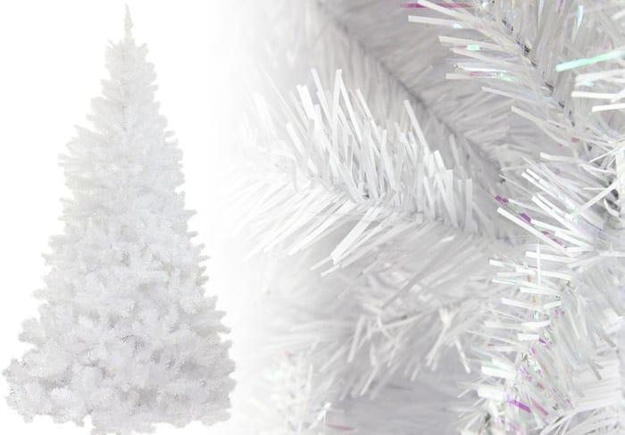 White Glimmer Iridescent Spruce Christmas Tree Photos