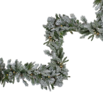 Frosted Flocked & Iced Garland