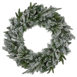 Frosted & Flocked Wreaths