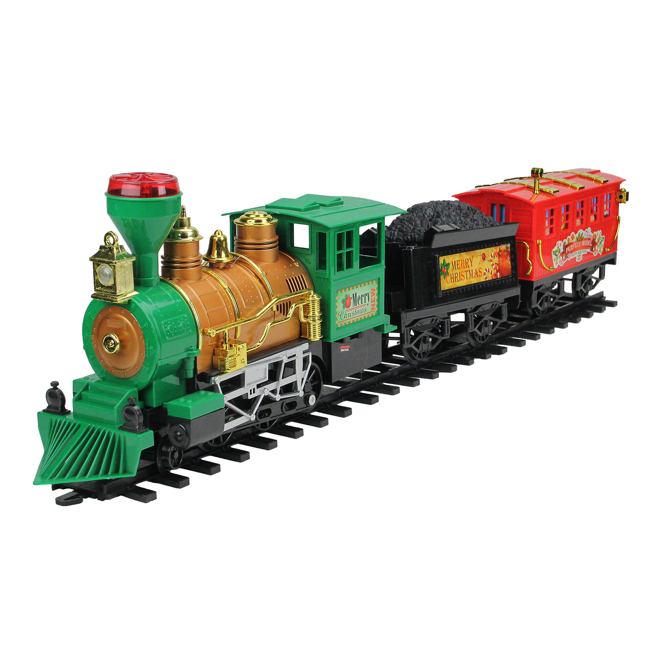 19-Piece Battery Operated Lighted & Animated Christmas Express Train Set  with Sound - 31758637