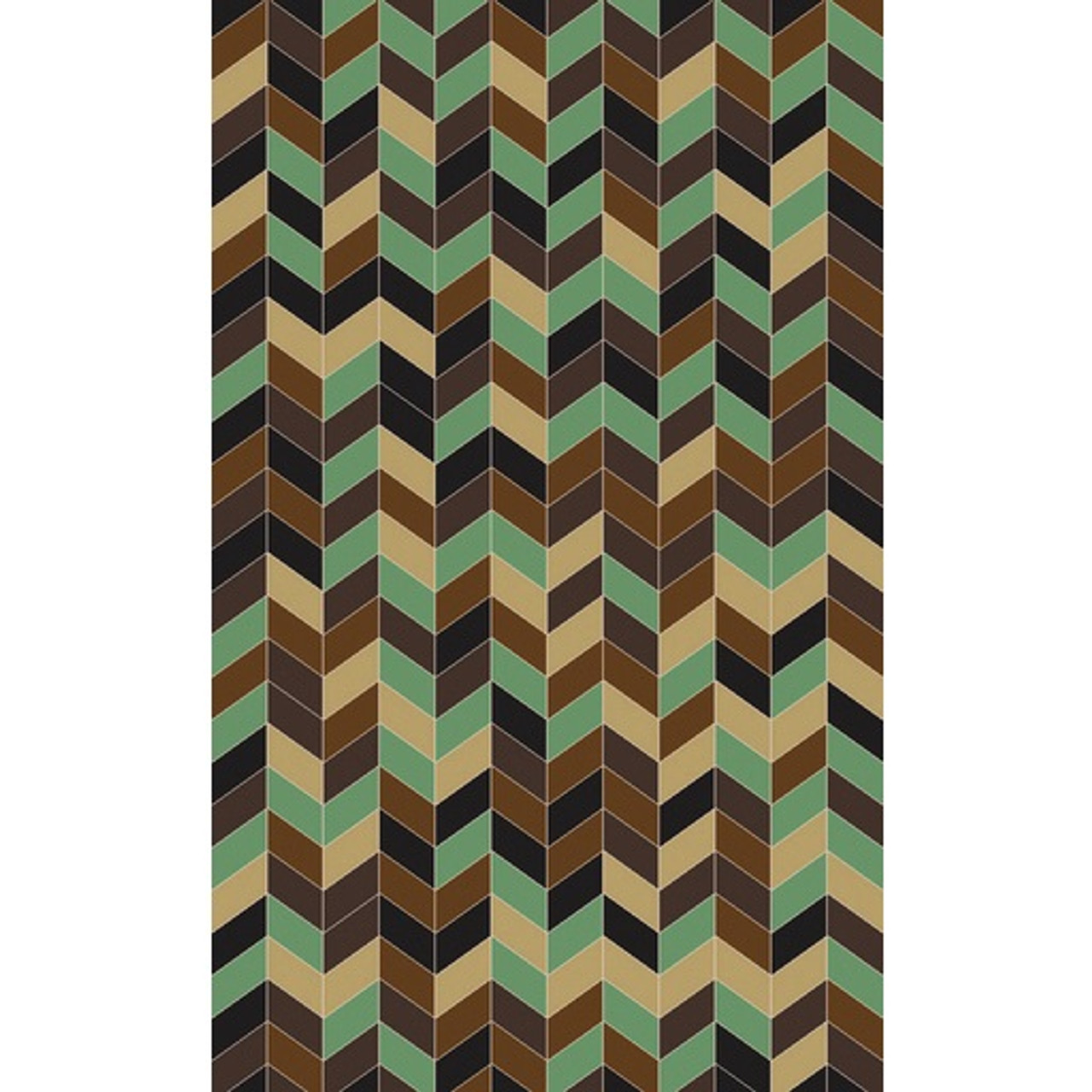 Picture of: 5 X 8 3 Dimensional Pillars Mocha Brown Emerald Green Black Area Throw Rug Christmas Central