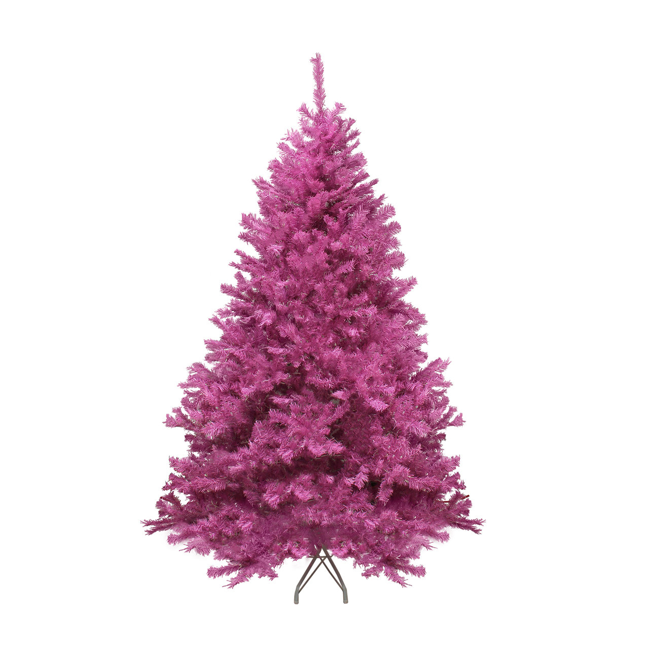 Pink Artificial Christmas Trees: 7.5' Orchid Pink Cedar Pine Artificial Christmas Tree