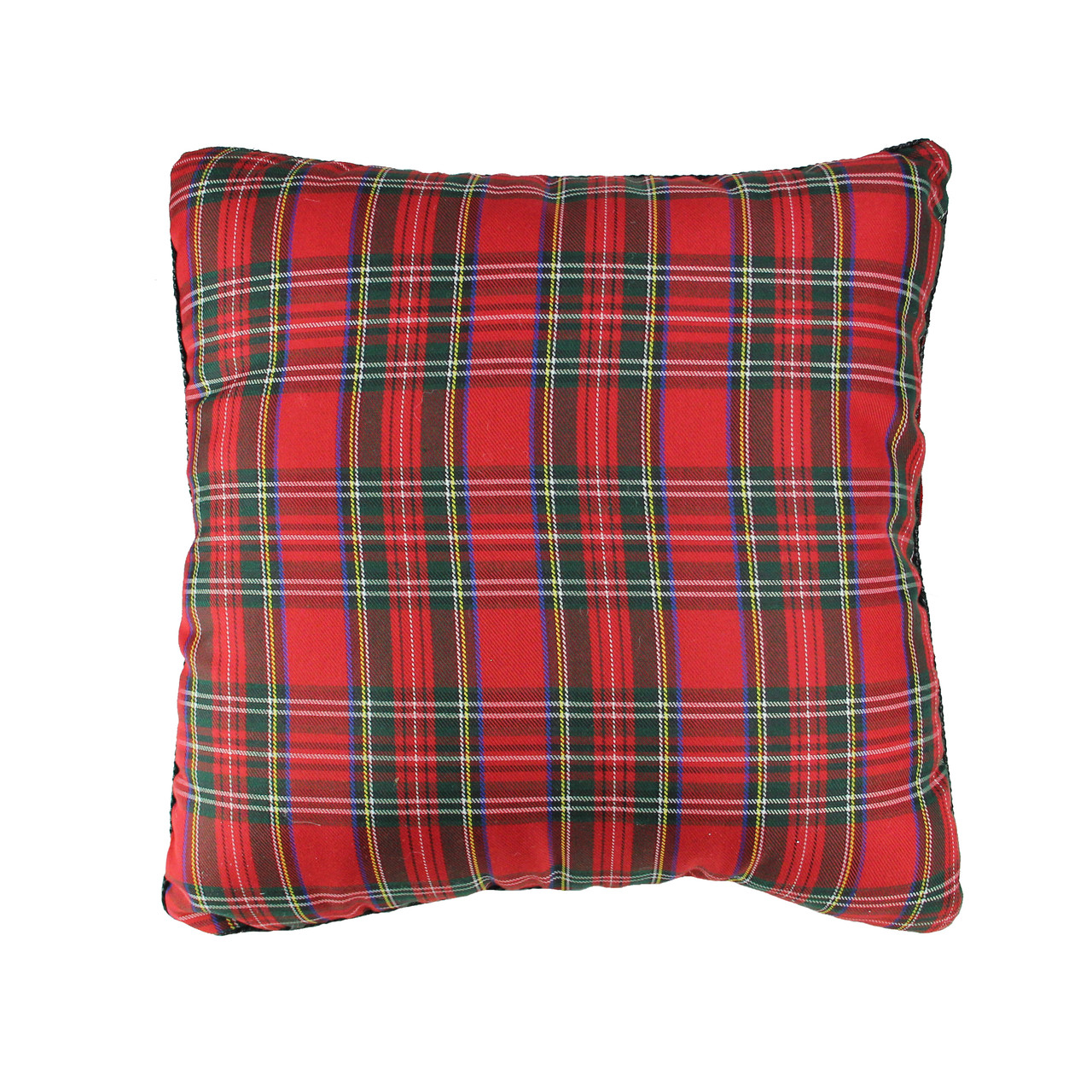 15 5 Red Green Square Textured Tartan Plaid Velvet Christmas