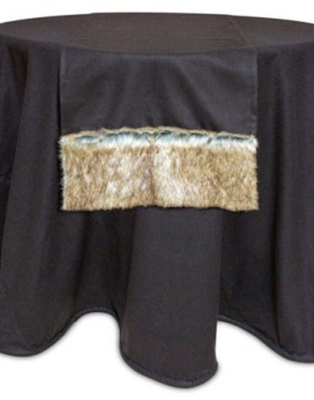 70 Country Rustic Chocolate Brown Christmas Table Runner With Faux