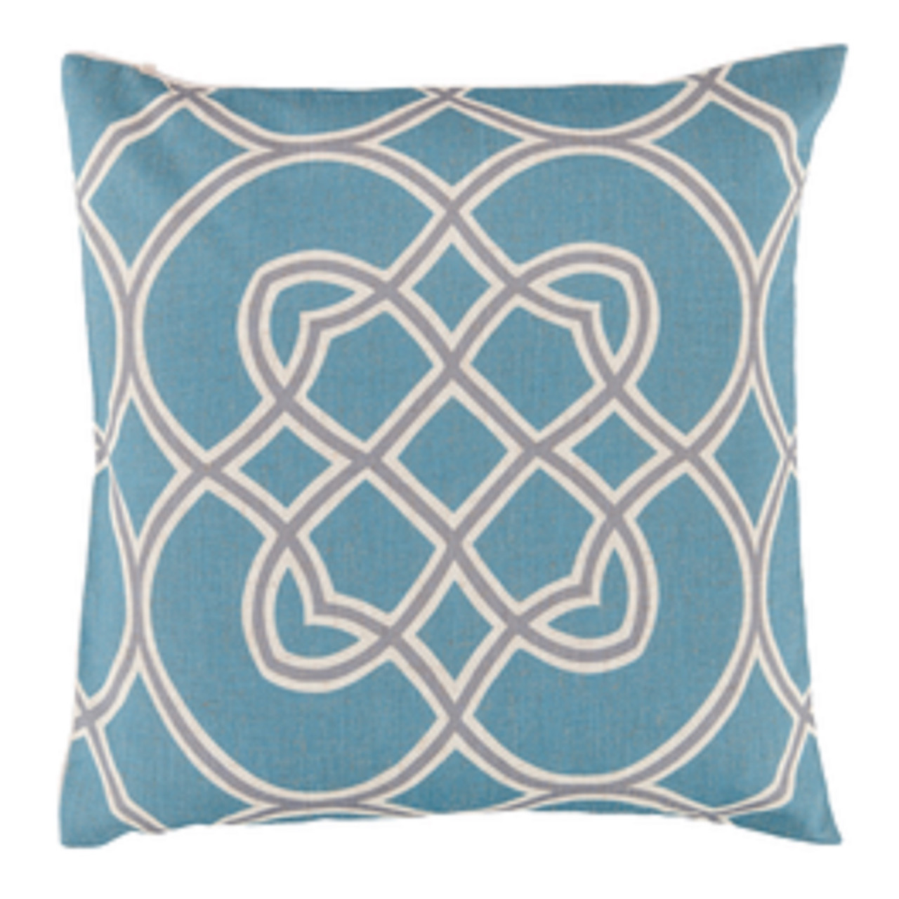 22 Powder Blue Clay Beige Ivory White Trellis Decorative Square Throw Pillow Down Filler Christmas Central