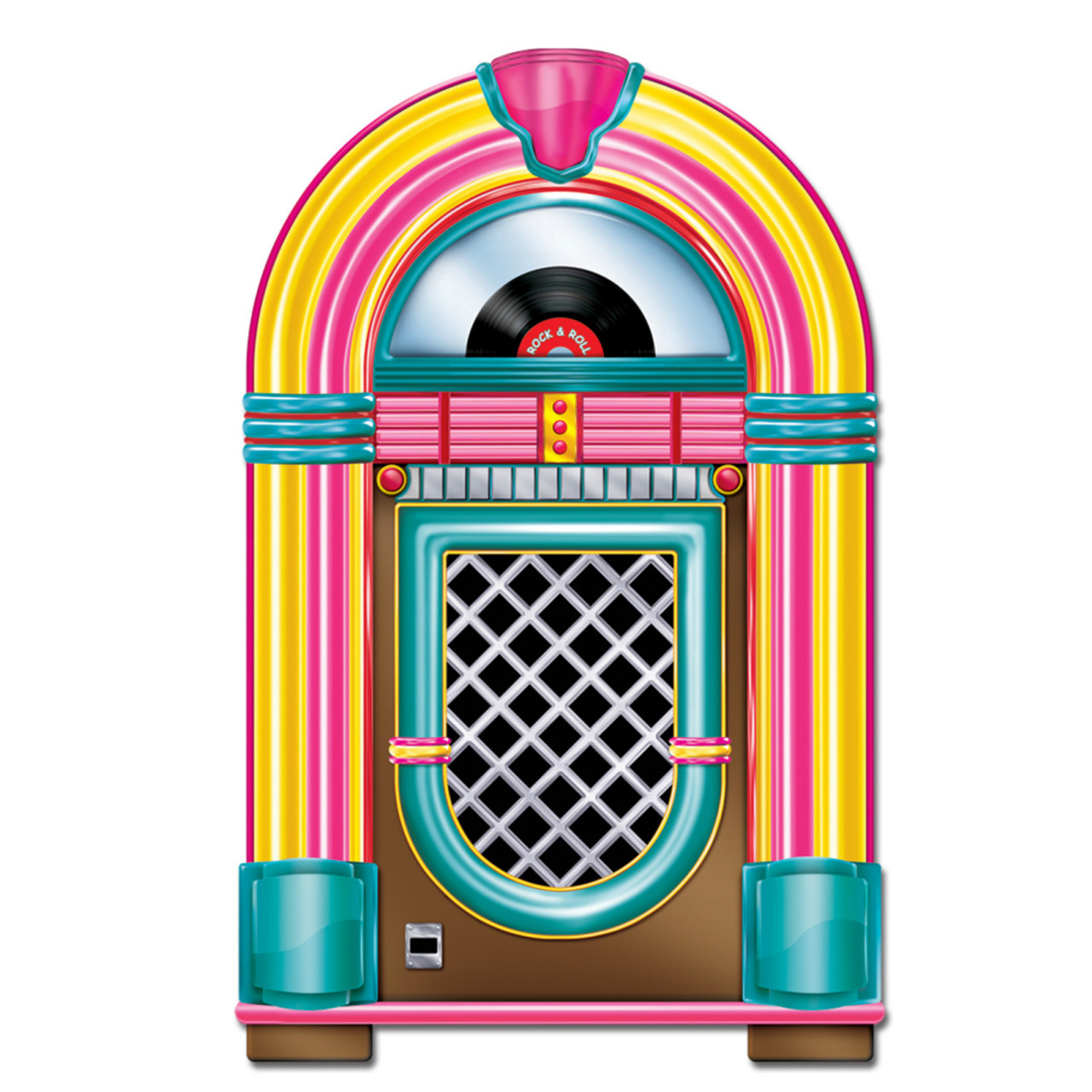 Pack Of 12 Vintage Style 50 S Themed Rock Roll Jukebox Party