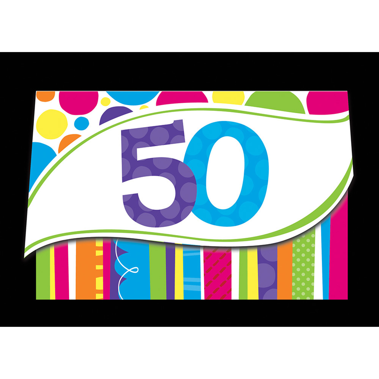 Club Pack Of 48 Bright Bold 50th Birthday Party Paper Invitations