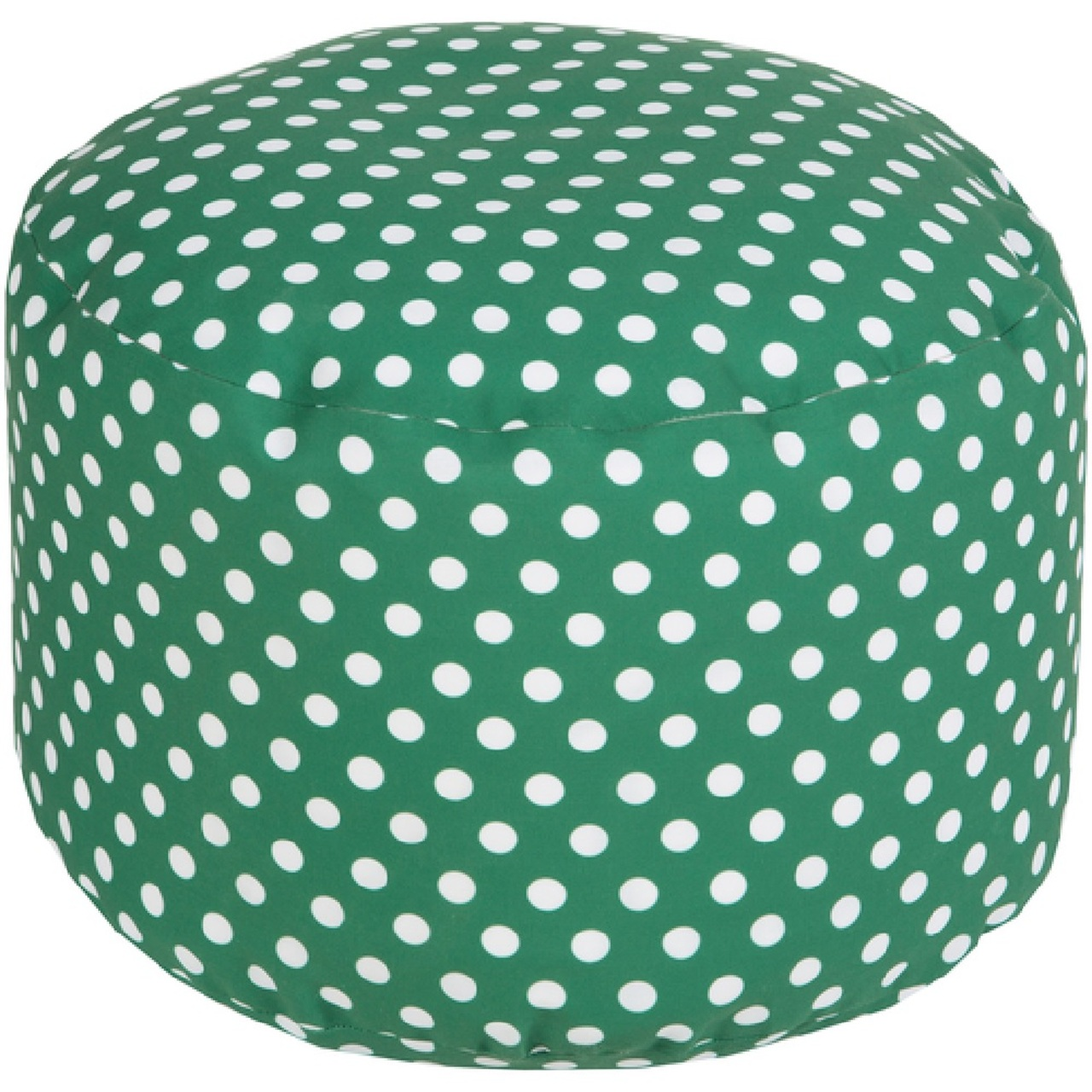 Amazing 20 Emerald Green And Ivory Simply Polka Dot Round Outdoor Patio Pouf Ottoman 31087601 Cjindustries Chair Design For Home Cjindustriesco