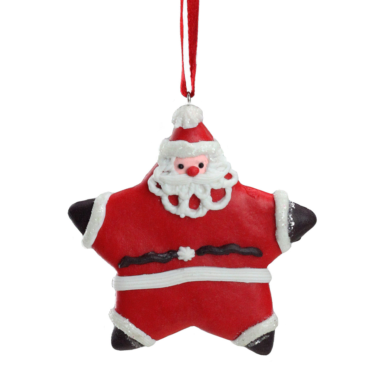 Sweet Memories Frosted Santa Claus Star Cookie Christmas Ornament 16460627