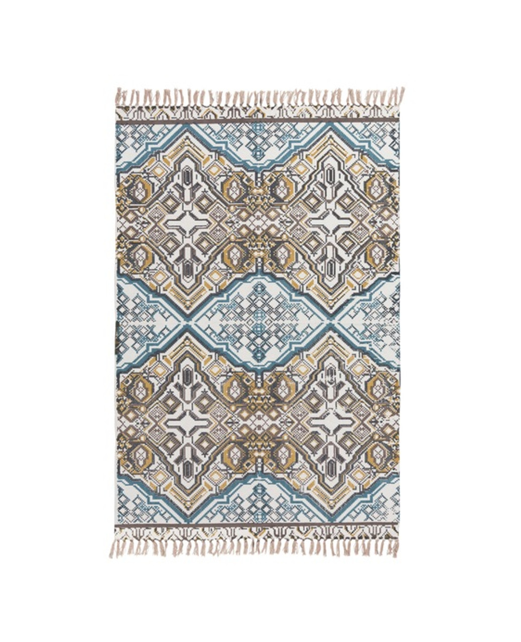 Christmas Area Rugs 8 X 10.8 X 10 Infinite Illusion Multi Color Hand Woven Fringe Detail Area Throw Rug 31504657