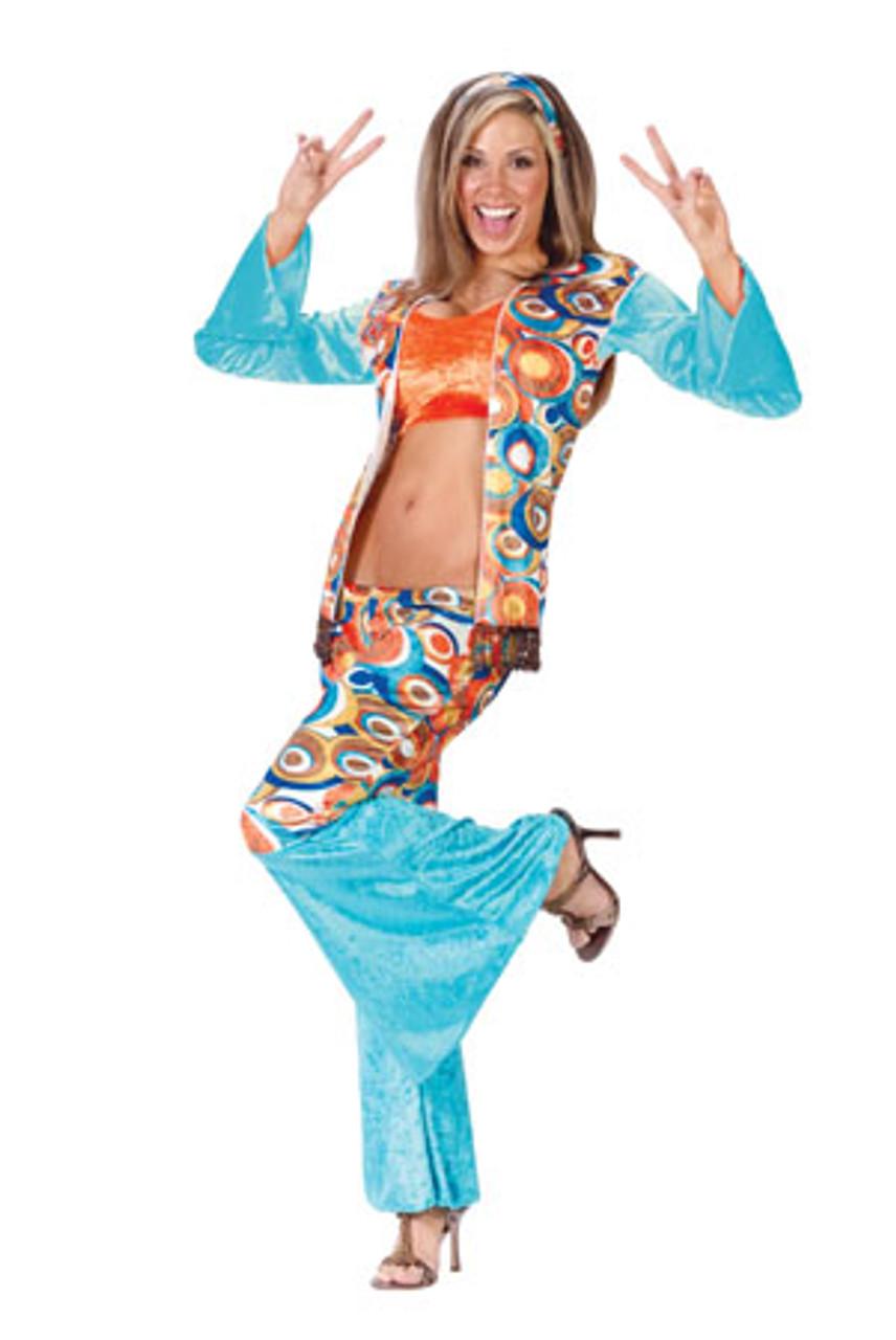 Hippie Girl Halloween Costume.Groovy Hippie Women S Adult Halloween Costume Size Small Medium 2 8 1050 6048006