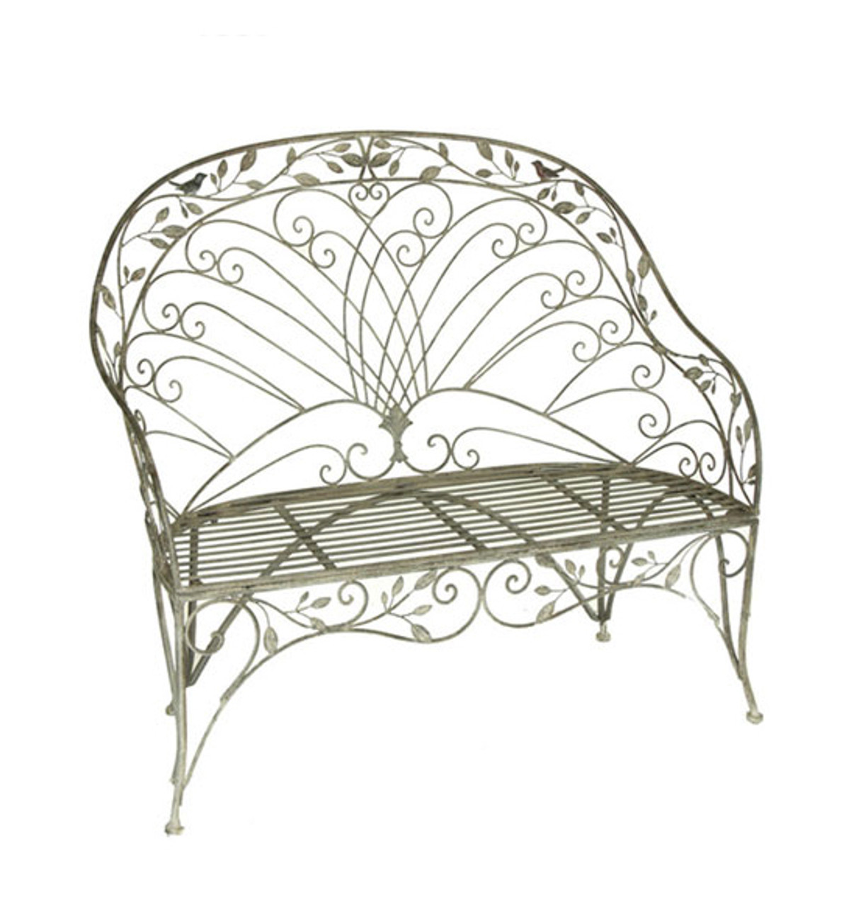 Surprising 48 Metal Garden Vineyard Weathered Finish Outdoor Patio Loveseat Bench 31352525 Gmtry Best Dining Table And Chair Ideas Images Gmtryco
