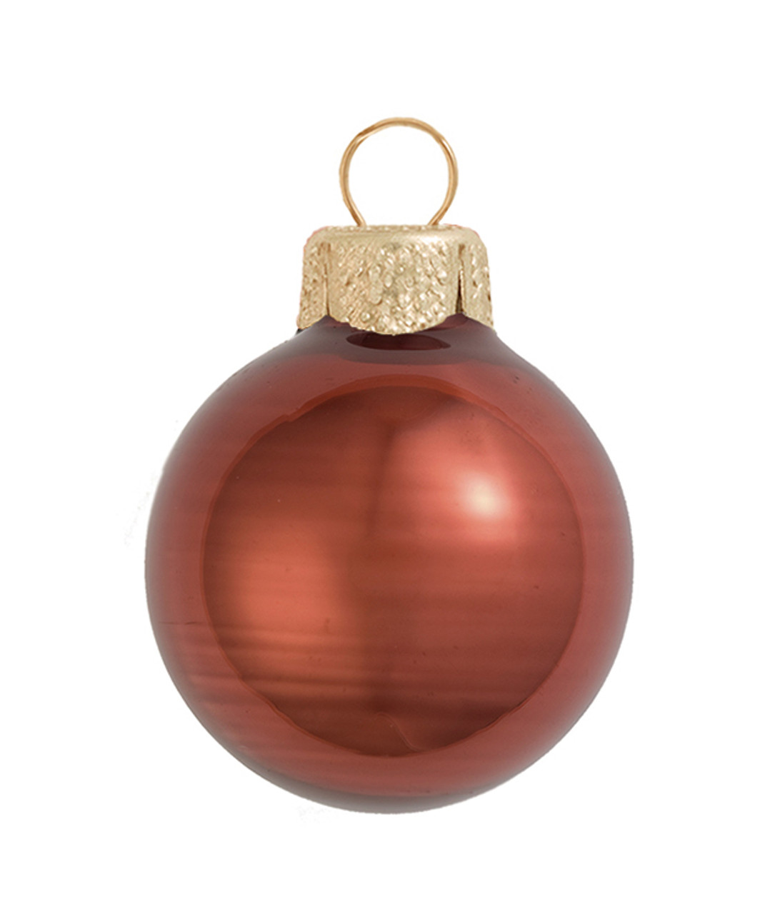 40ct Chocolate Brown Shiny Glass Ball Christmas Ornaments 1 25 30mm 30939201