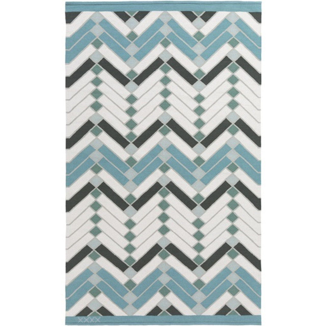 Picture of: 4 X 6 Domestic Energies Forest Green Baby Blue Ivory White Area Throw Rug Christmas Central