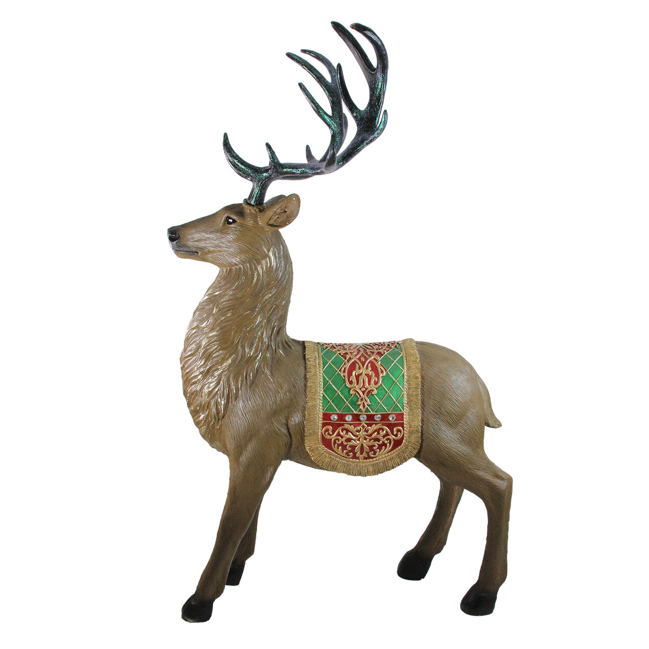 5 Commercial Grade Standing Reindeer Fiberglass Christmas Outdoor Decoration Christmas Central