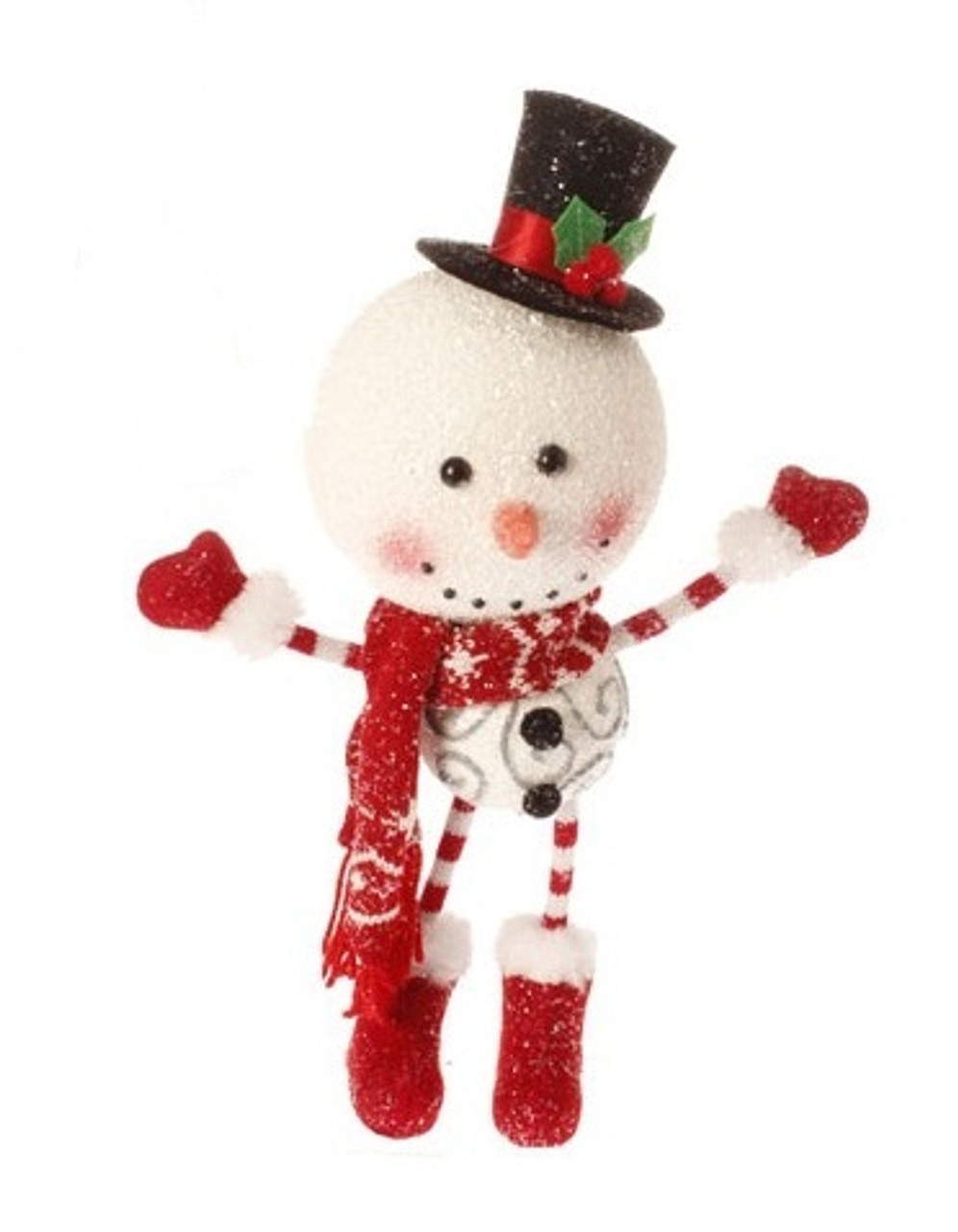 15 Alpine Chic Oversized Snowman With Santa Hat Christmas Ornament Christmas Central