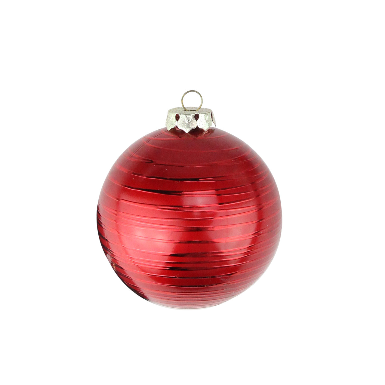 Red Christmas Ball Ornaments.2ct Matte Red Drizzled Line Shatterproof Christmas Ball Ornaments 3 25 80mm 30889480