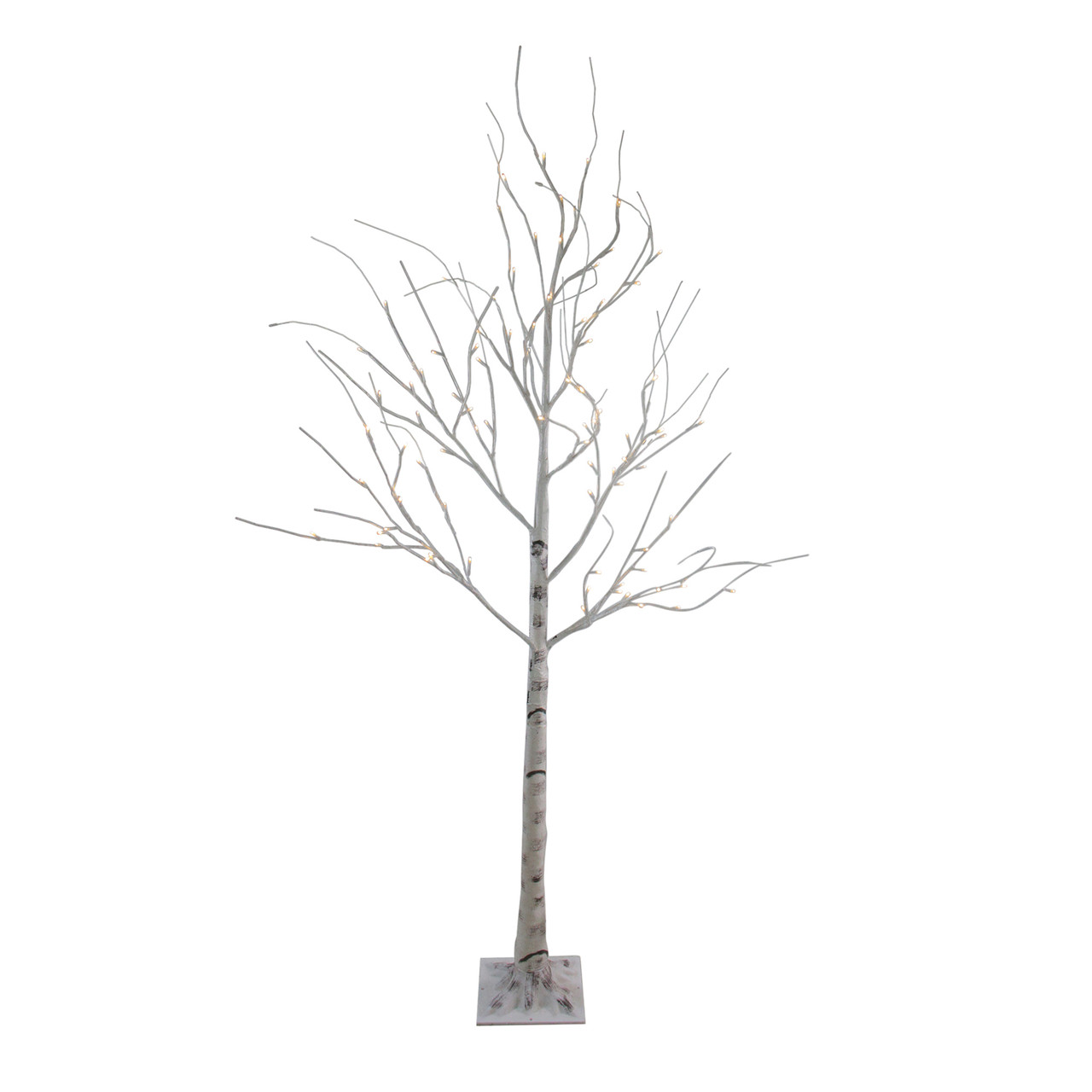 Pre Lit Christmas Twig Tree: 6' Pre-Lit White Christmas Twig Tree Outdoor Yard Art