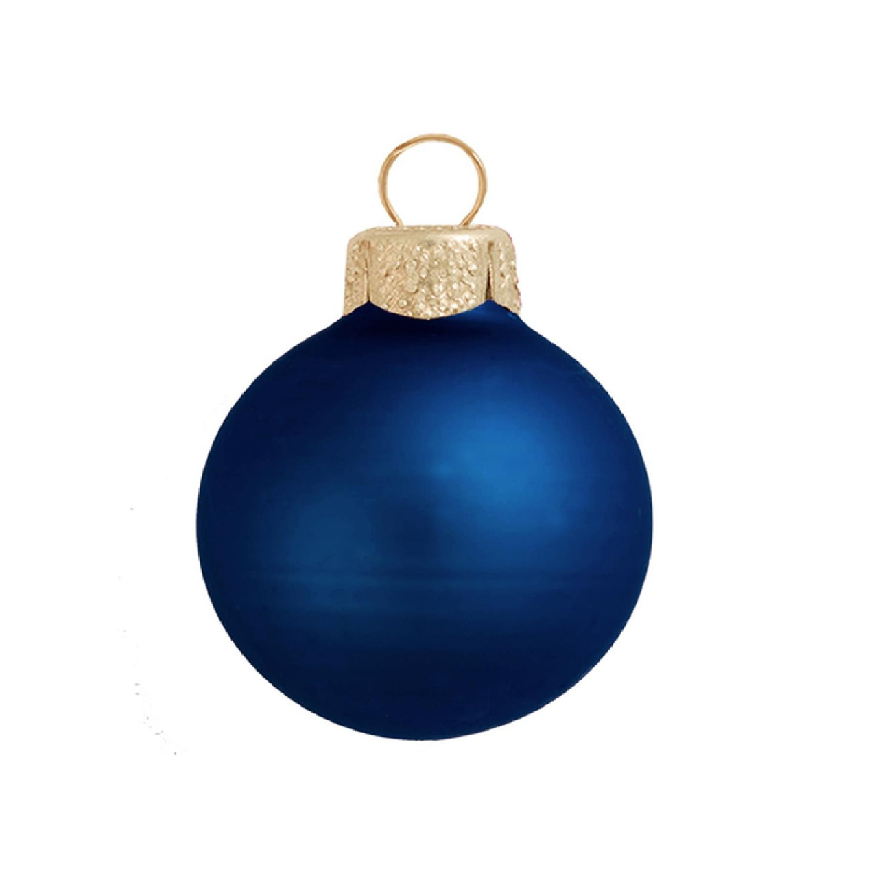 28ct Midnight Blue Glass Matte Christmas Ball Ornaments 2 50mm 30939579