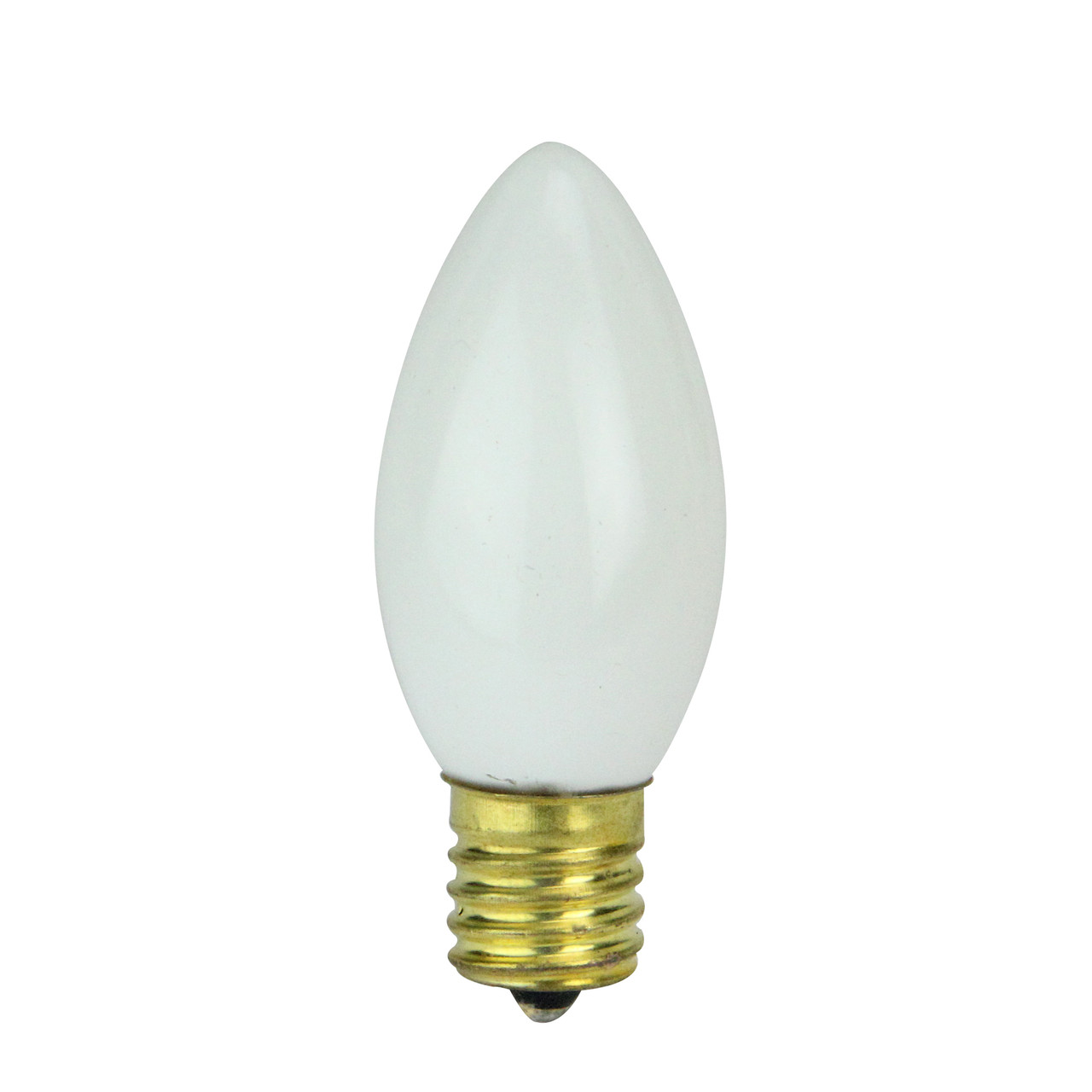 Pack Of 4 Opaque Ceramic White C9 Christmas Replacement Bulbs 30895295