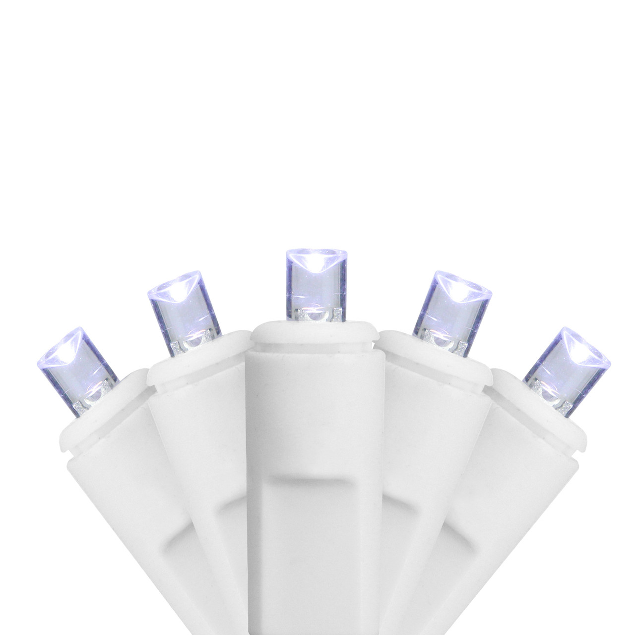 70 White Led Twinkling Commercial Wide Angle Icicle Christmas Lights 9 Ft White Wire 31466651