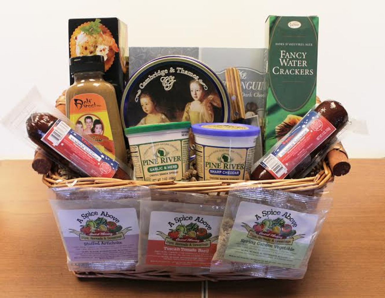 11-Piece Party Favorites Gourmet Sausage, Cheese and Dip Gift Basket - 31450888