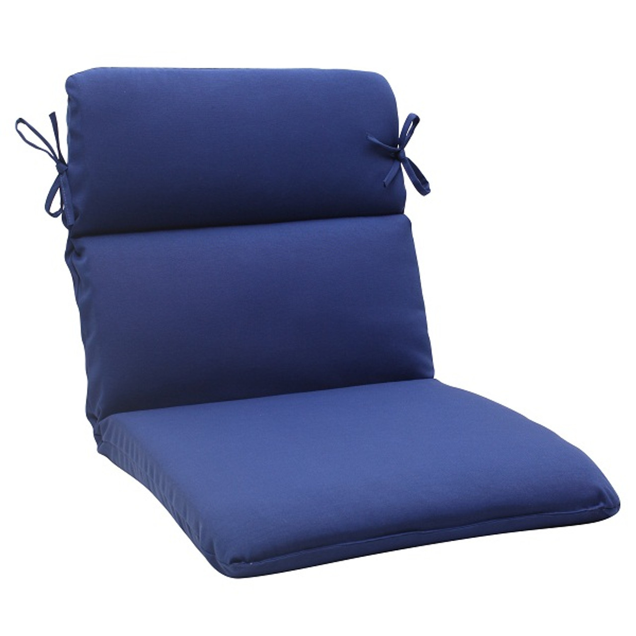 40 5 Traditional Navy Blue Outdoor Patio Rounded Chair Cushion With Ties 30951619