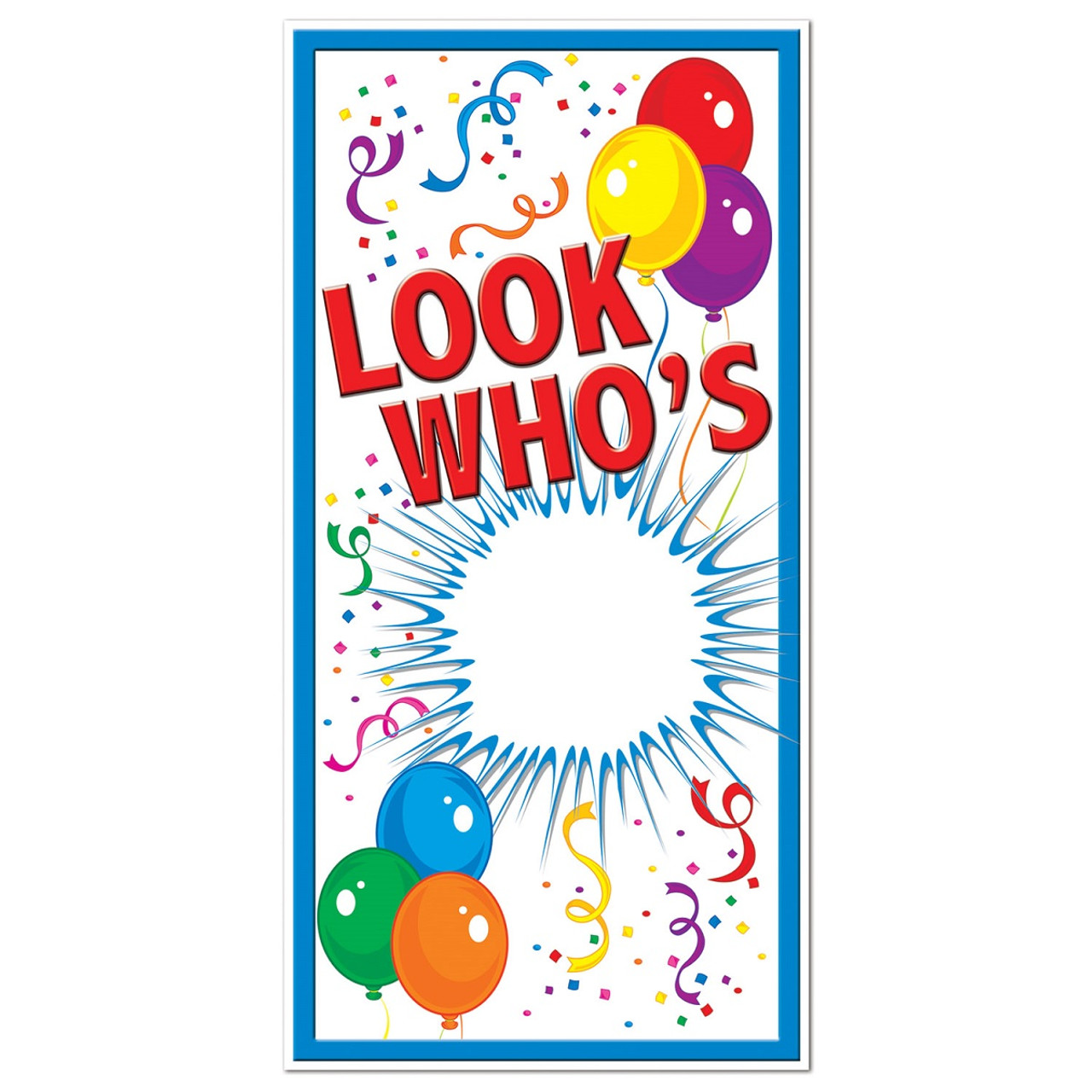 Club Pack Of 12 Birthday Themed Look Whos Door Cover Party