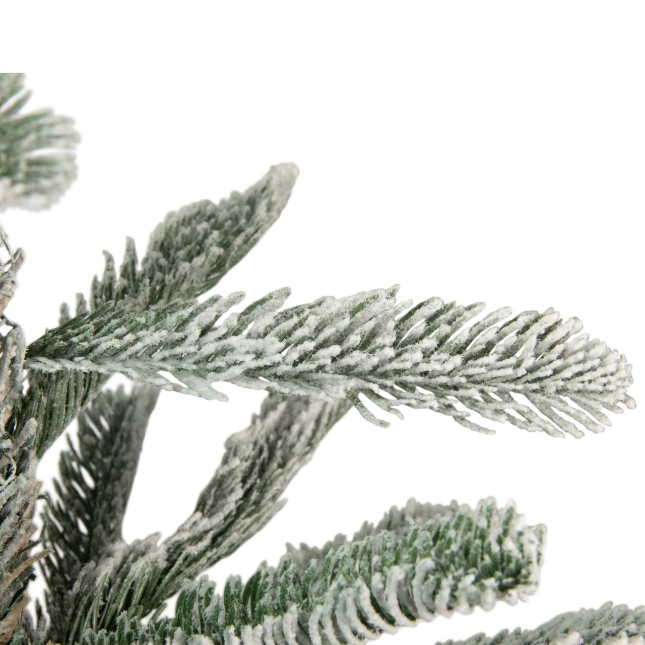 6.5' Slim Flocked Noble Fir Artificial Christmas Tree