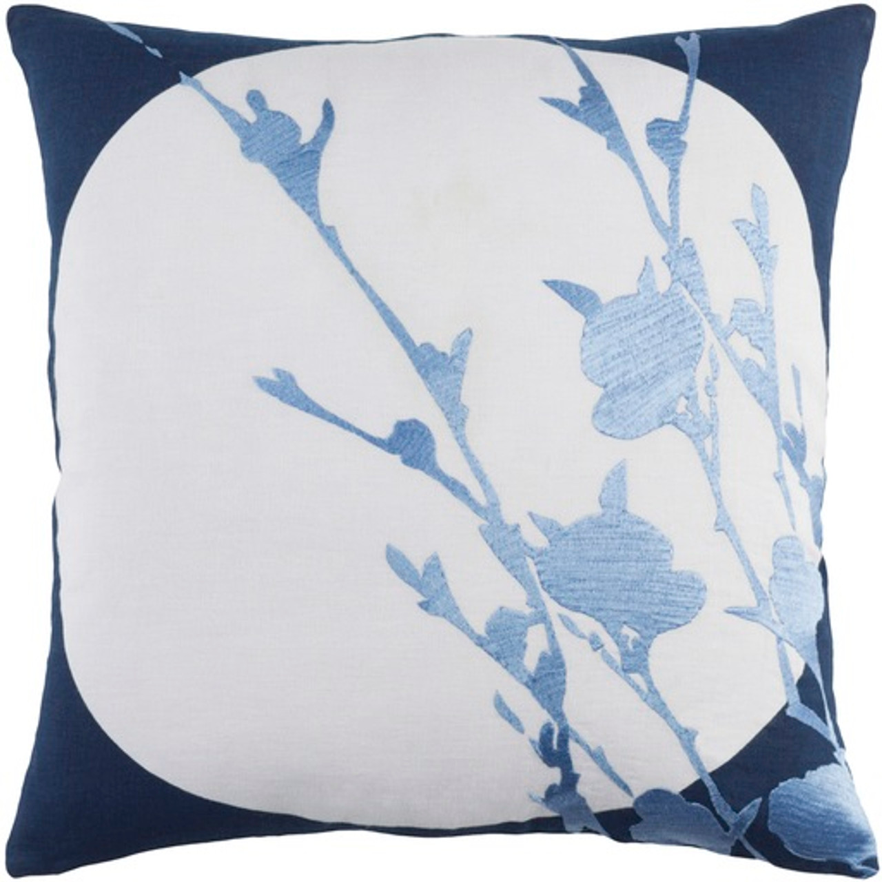 18 Soft Baby Blue Cream Brown Dark Ribbon Blue Decorative Throw Pillow Down Filled Christmas Central