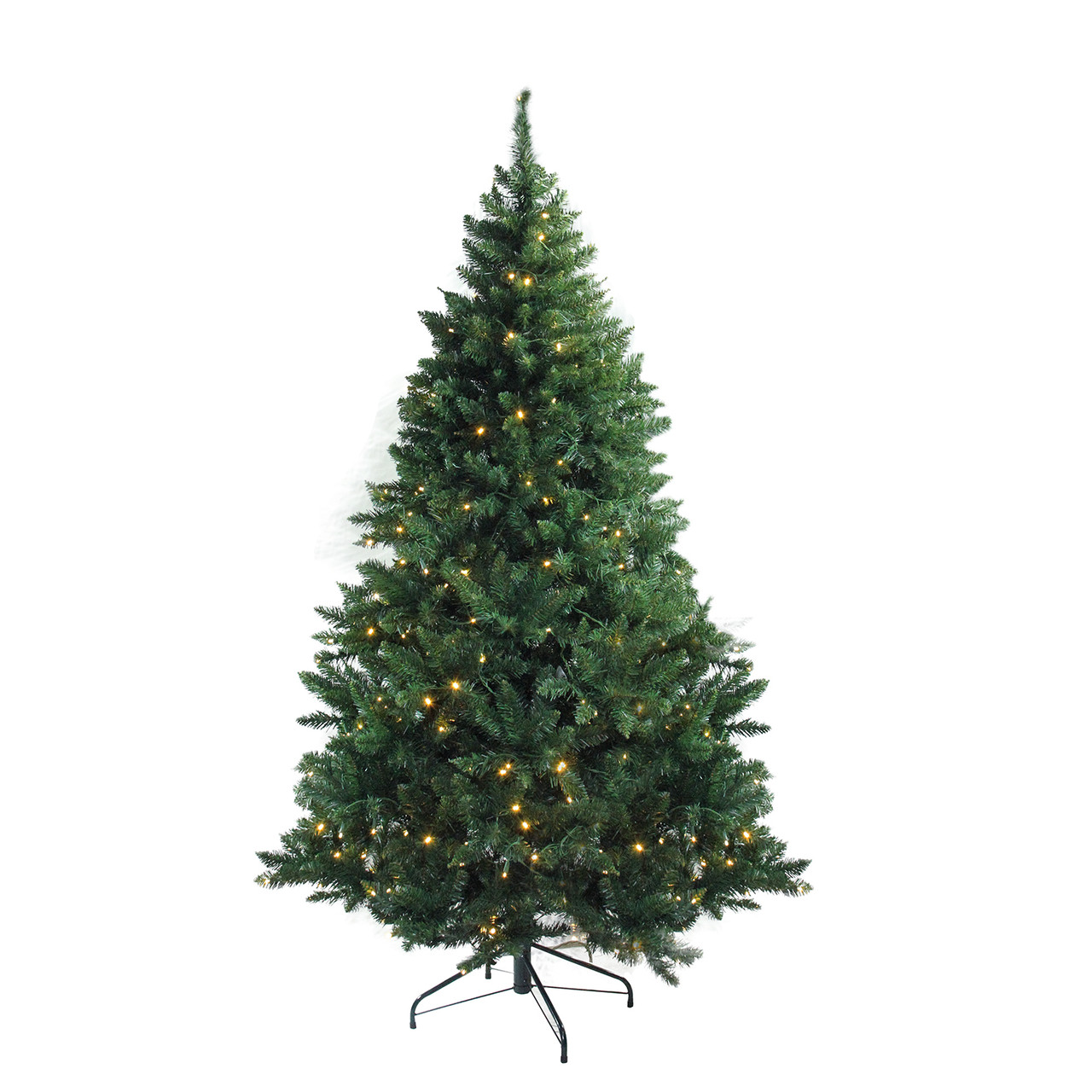 Pre Lit Led Lights Christmas Tree: 7.5' Pre-Lit Buffalo Fir Medium Artificial Christmas Tree