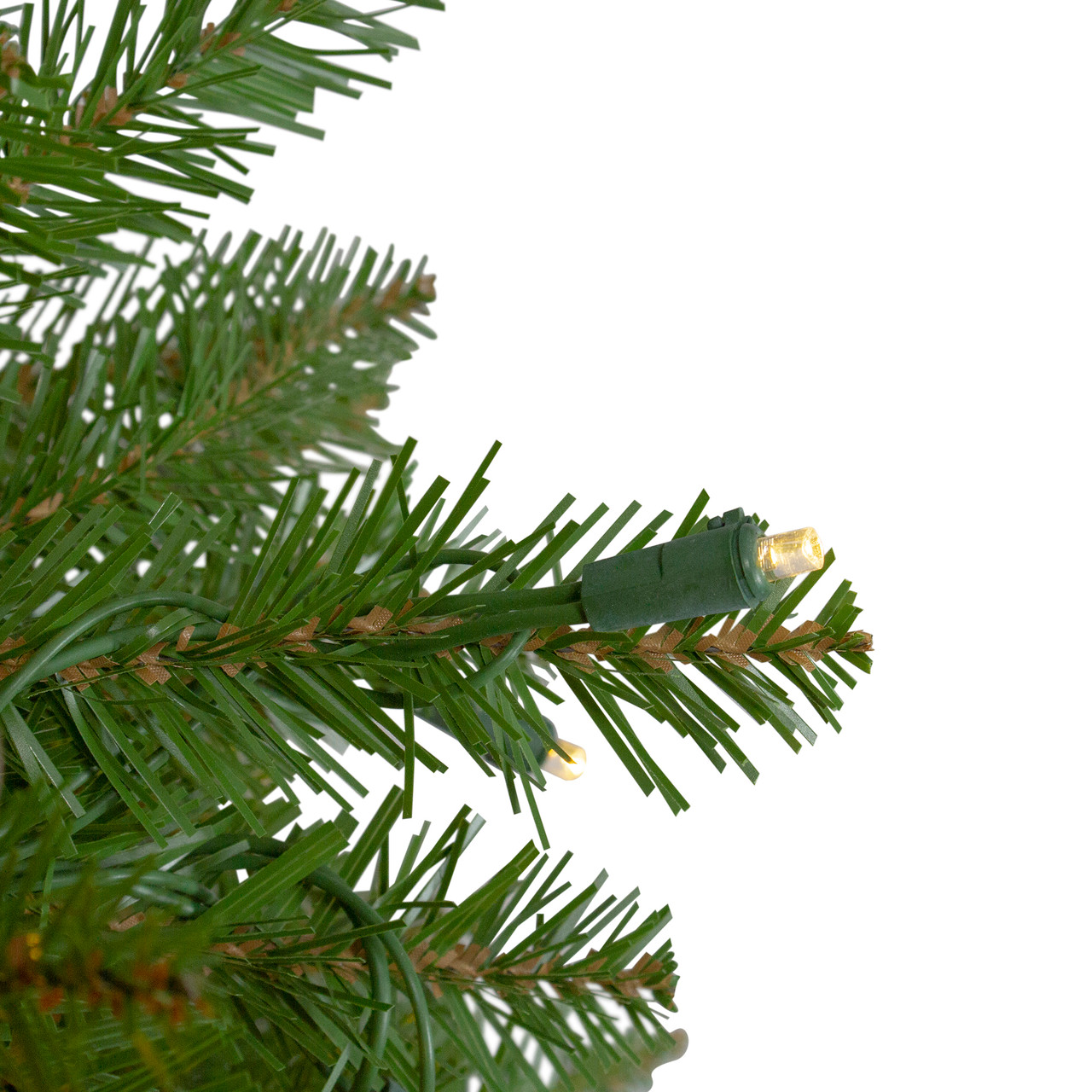 4' Pre-Lit Northern Pine Full Artificial Christmas Tree ...
